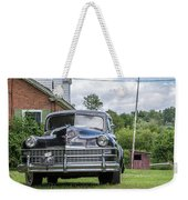 Old Car In Front Of House Weekender Tote Bag