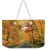 Old Car Tour To Copper Harbor Weekender Tote Bag