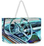 Old Car Wheel Weekender Tote Bag