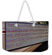 Old Car With Text Weekender Tote Bag