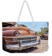 Old Cars In The Desert, Eldorado Canyon, Nevada Weekender Tote Bag by Edward Fielding