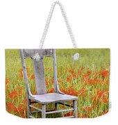 Old Chair In Wildflowers Weekender Tote Bag