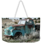 Old Chevy Farm Truck In The Field Weekender Tote Bag
