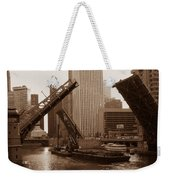 Old Chicago River Bridges Weekender Tote Bag