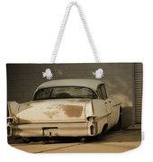 Old Cadillac In Sepia Tones Weekender Tote Bag