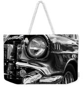 Old Classic Car In Black And White Weekender Tote Bag