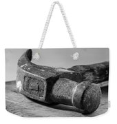Old Claw Hammer With Wooden Handle Bw Weekender Tote Bag