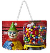 Old Clown Toy And Gum Machine  Weekender Tote Bag by Garry Gay