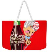 Old Coca-cola Red And White Coke Machine Vintage Vendo Model 44  Weekender Tote Bag
