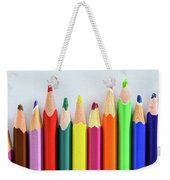 Old Colored Pencils Weekender Tote Bag