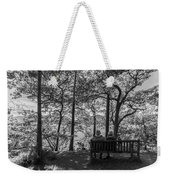 Old Couple On The Bench By The Lake Weekender Tote Bag