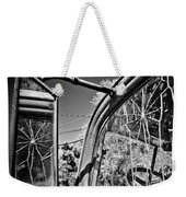 Old Cracked Glass Spider Web Weekender Tote Bag