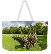 Old Cut Tree On A Meadow Weekender Tote Bag