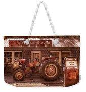 Old Days Vintage Weekender Tote Bag by Debra and Dave Vanderlaan