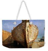 Old Dilapidated Wooden Boat  Weekender Tote Bag