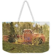 Old Dodge Truck In Garden Weekender Tote Bag