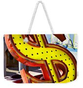 Old Dollar Sign Weekender Tote Bag