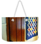Old Door - New Quilt Weekender Tote Bag