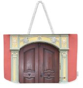 Old Door And Emblem Weekender Tote Bag