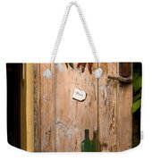 Old Door And Wine Weekender Tote Bag