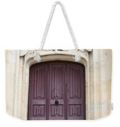 Old Door With Swan Relief Weekender Tote Bag