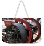 Old Economy Gas Engine On Display At A County Fair Weekender Tote Bag