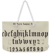 Old English Analytical, Small Weekender Tote Bag