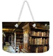 Old English Library Weekender Tote Bag