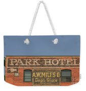 Old Faded Advertisement On An Old Brick Building Weekender Tote Bag