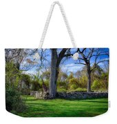 Old Family Plot In Cromwell Valley Park Weekender Tote Bag