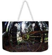 Old Farm Wagon Wheel Weekender Tote Bag
