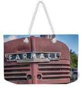 Old Farmall Tractor Grill And Nameplate Weekender Tote Bag