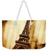 Old Fashion Eiffel Tower Souvenir Weekender Tote Bag