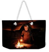 Old-fashioned Blacksmith Heating Iron Weekender Tote Bag