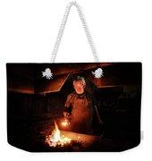 Old-fashioned Blacksmith Heating Iron Weekender Tote Bag