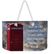 Old Fashioned Weekender Tote Bag