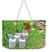 Old Fashioned Milk Churns Weekender Tote Bag