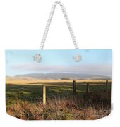 Old Fence And Landscape Along Sir Francis Drake Boulevard At Point Reyes California . 7d9965 Weekender Tote Bag