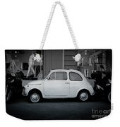 Old Fiat On The Streets Of Florence Weekender Tote Bag
