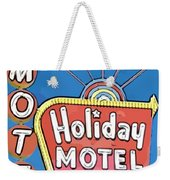 Old Fifties Vegas Hotel Sign Painting Weekender Tote Bag