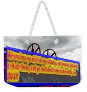 Old Fire Truck With Text 3 Weekender Tote Bag