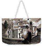 Old Firetruck Weekender Tote Bag