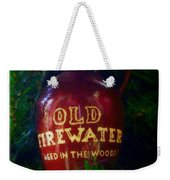 Old Firewater Aged In The Woods Weekender Tote Bag