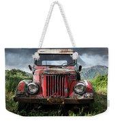 Old Forgotten Red Car Weekender Tote Bag