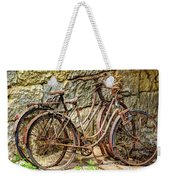 Old French Bicycles Weekender Tote Bag by Debra and Dave Vanderlaan