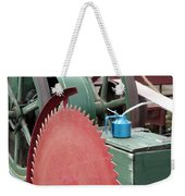 Old Gas Engine And Saw Blade At A County Fair Weekender Tote Bag