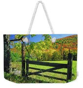 Old Gate At East Orange Weekender Tote Bag