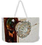 Old Glass Doorknob Weekender Tote Bag