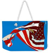 Old Glory Flying Weekender Tote Bag