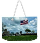 Old Glory Over Baltimore Weekender Tote Bag